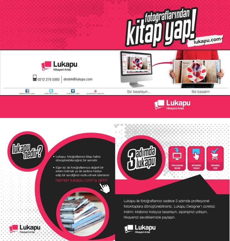 Lukapu Broşür tasarımı designed by kreatin
