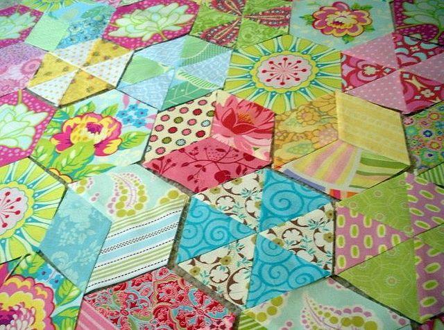 By artistdoris. Hexalong info here: http://lilysquilts.blogspot.com/2011/07/hexalong-starts-here.html