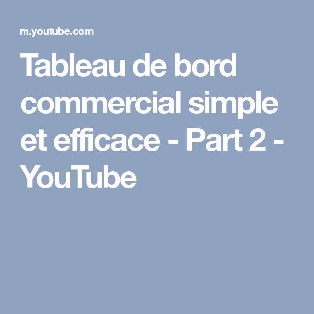 Tableau de bord commercial simple et efficace - Part 2 - YouTube