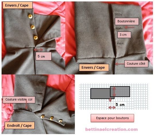 DIY: Cape/ Poncho, tutoriel couture gratuit Bettinael.Passion.Couture.Made in france