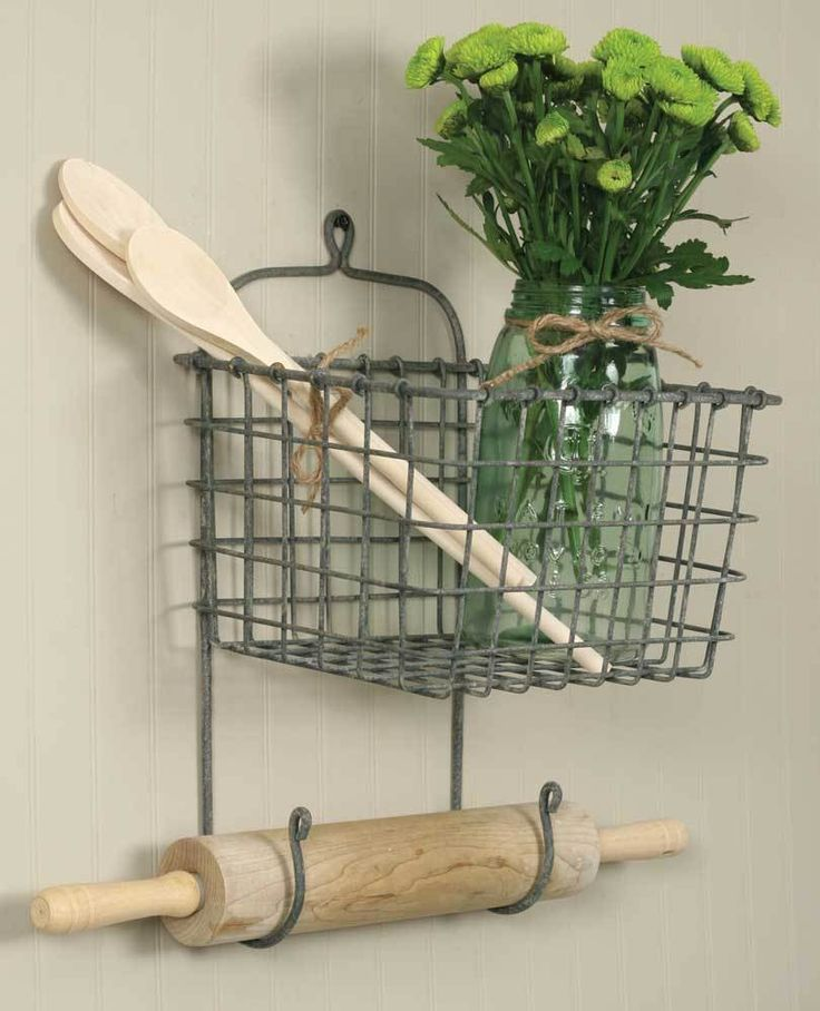 25+ Best Ideas About Wall Mounted Wire Baskets On