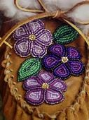 Detail of the beadwork I did on Sharon's moccasins. ~Beaded by Heather Simmons, Alaska