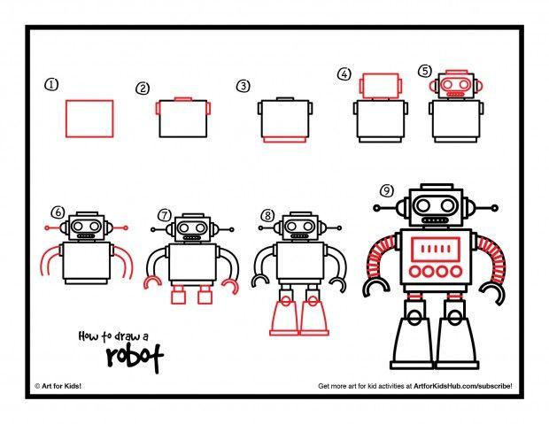 92 best Art (Robots, Aliens, and Spaceships) images on Pinterest - new robot blueprint vector art