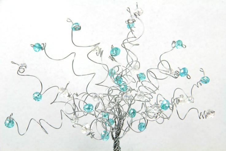 Tiffany Blue Wedding Cake Topper Tree by NouveauTique on Etsy - This is what I have chosen - it will have red and cream beads