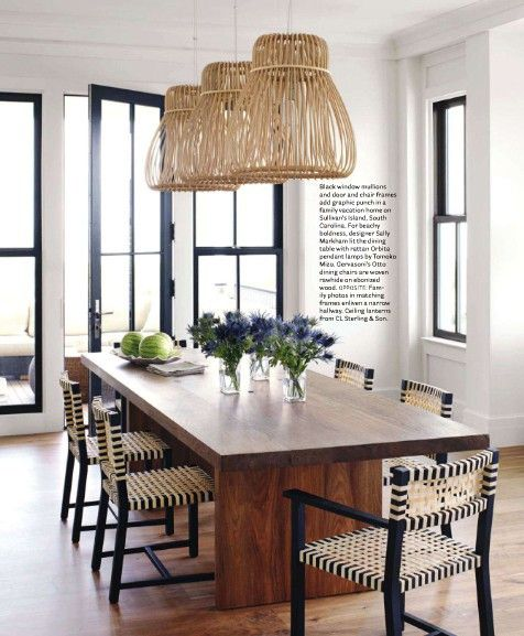 Love the black/ white with timber accents