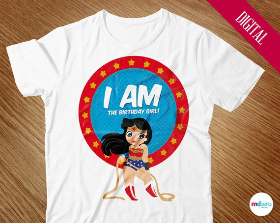 Wonder Woman Birthday Shirt Applique