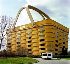 The Longaberger basket offices. I'm not sure if this is ridiculous or a stoke of genius.