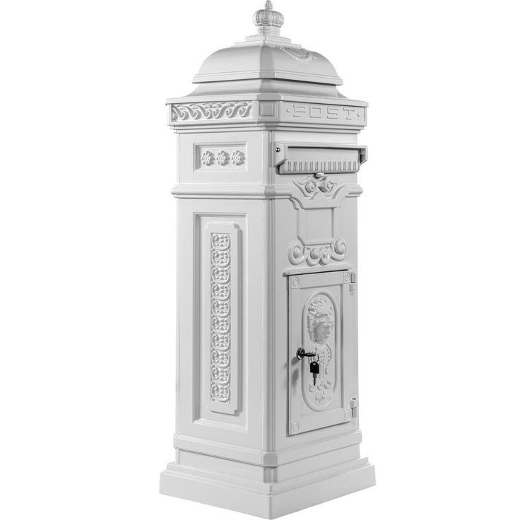 Säulenbriefkasten, Postkasten antik weiß  #Briefkasten #Modern #Design #Boxes #Mail #Haus #Antik #Stahl #Steel #Garden #Rustic #Rustikal #Mailbox #Metal #Cool #Old #Awesome #Edelstahl #Aluminium #Englisch #Britisch #Postkasten #Standbriefkasten #Wandbriefkasten #Zeitungsrolle