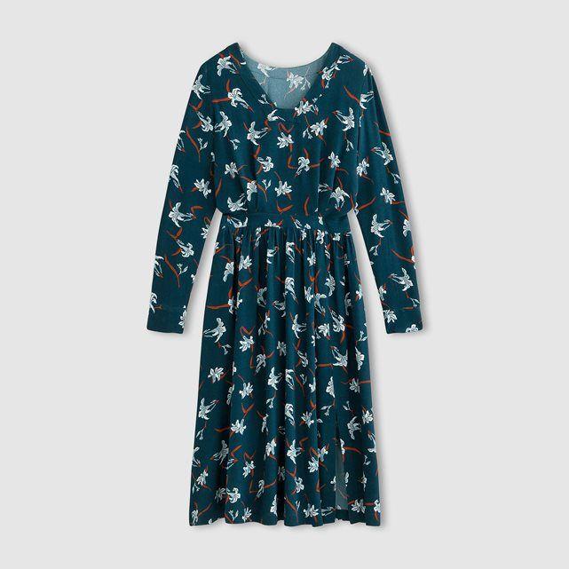 фото Платье длинное с рисунком LAURA CLEMENT LAURA CLEMENT