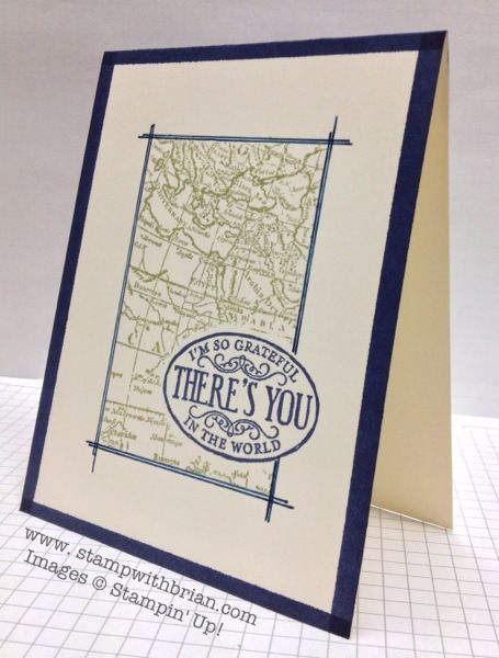 7 best Stampin' Up! World Map images on Pinterest | Masculine cards