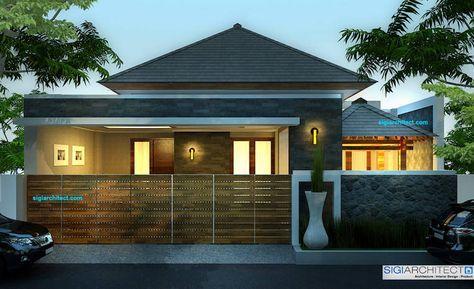Rumah Modern Minimalis 200M2 Tropis, Rumah satu lantai berdiri diatas lahan berukuran 10 X 20 M dan hampir 100% lahan yang ada difungsikan sebagai bangunan