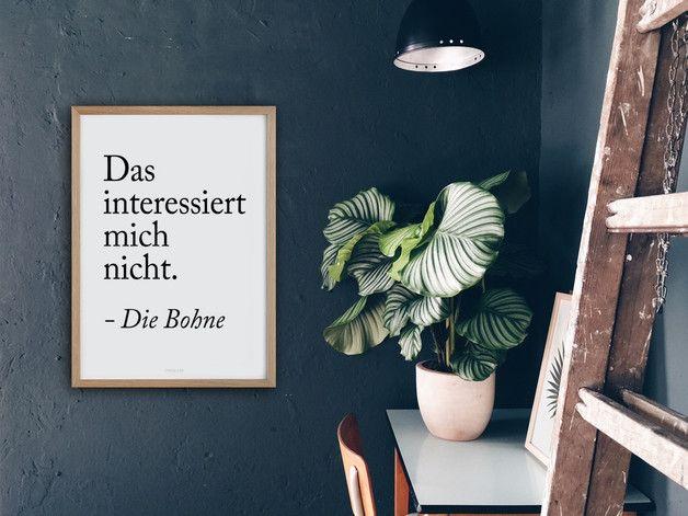 Kunstdruck mit lustigem Spruch fürs Wonhzimmer / poster with funny quote, living room made by typealive via DaWanda.com