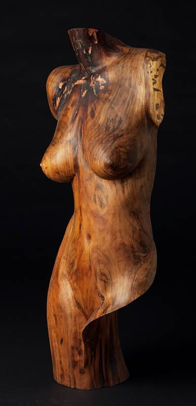 Wood Sculpture Figurative, Artemis, by Chad Awalt-Fine Art and Sculpture in wood