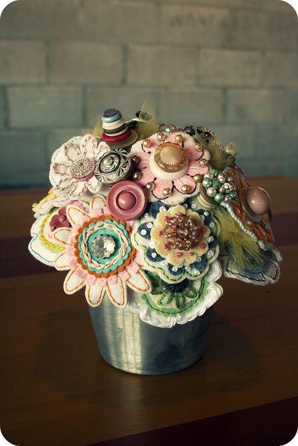 This is ART! Felt bouquet by Megan Hunt