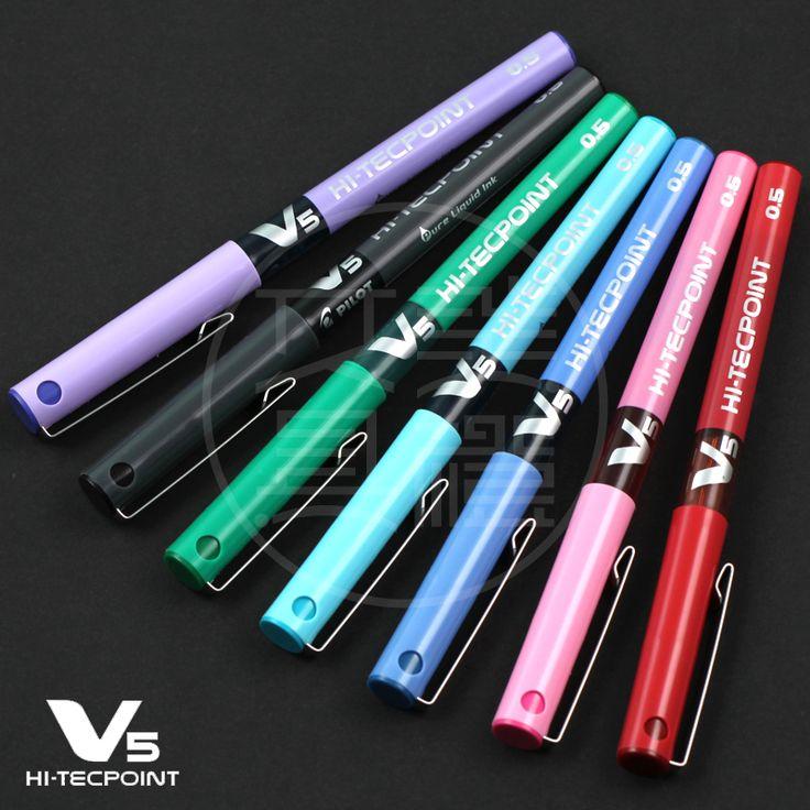 Пилот BX-V5 гелевые ручки 0.5 мм Многоцветный чернила ролик шариковых ручек школы и офиса канцелярские 12 шт./лот