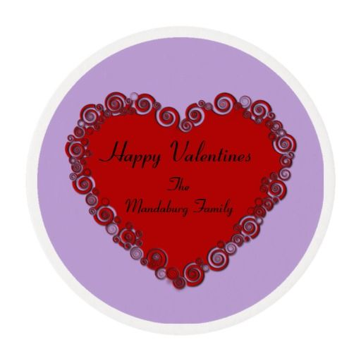 Personalized Valentine Edible Frosting Rounds