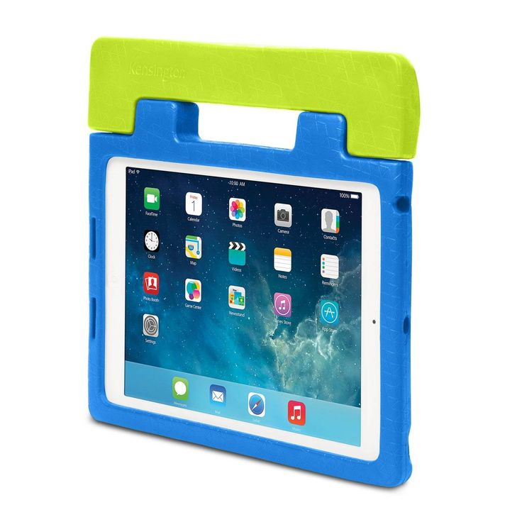 SafeGrip™ Rugged Carry Case & Stand for iPad® Air - The iPad opens a whole new world of hands-on learning for kids. However, sensitive electronics like the iPad Air just weren't made to withstand ...