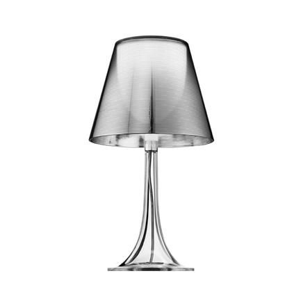 Miss K Table Lamp, aluminized silver, Philippe Starck, Flos