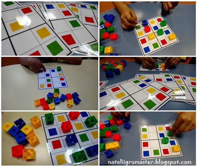 sudoku met gekleurde blokjes met vertifix