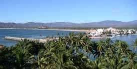 Barra de Navidad, Jalisco, Mexico.  This is a tiny, gorgeous, fishing town popular with Canadian travelers.