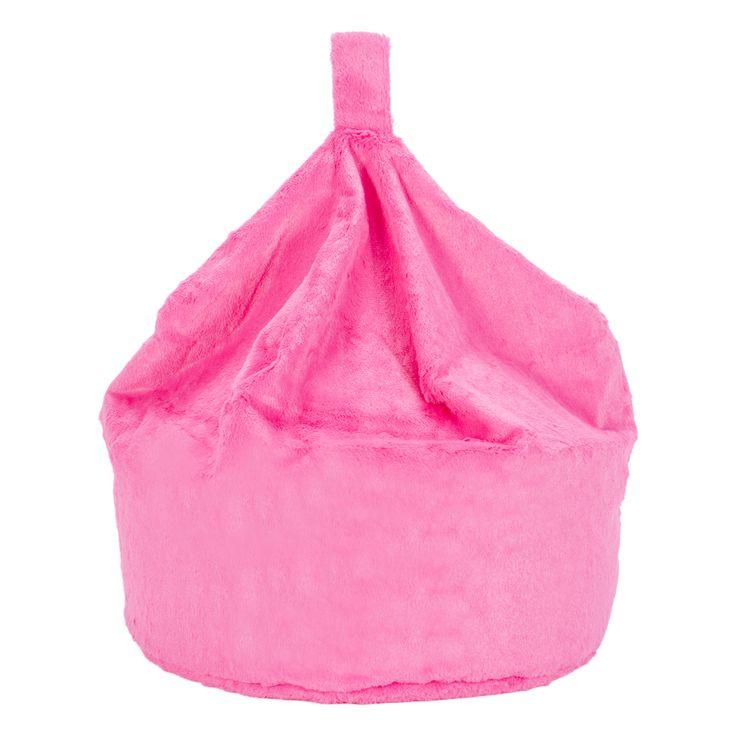 Fun Fur Pink Bean Bag