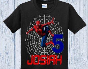 Spiderman Birthday Shirt  Spiderman Shirt  by BellaFashionDesignz
