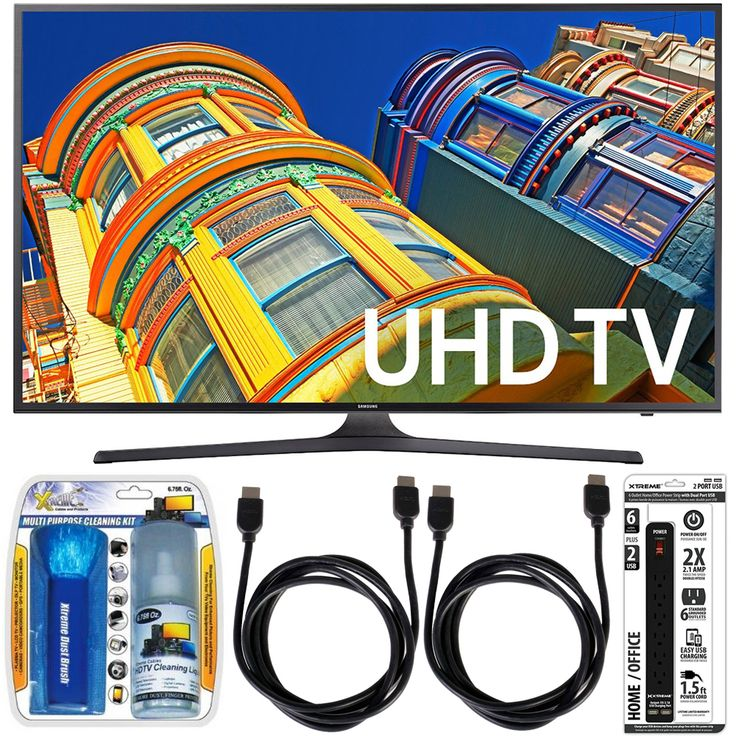 Samsung UN55KU6300 - 55-Inch Smart 4K UHD HDR LED TV Essential Accessory Bundle includes TV, Screen Cleaning Kit, 6 Outlet Power Strip with Dual USB Ports and 2 HDMI Cables Review