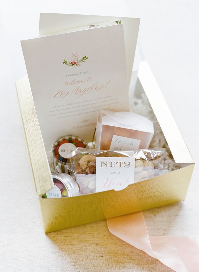 Gold Wedding Favor Box For All The Guests Http Www Stylemepretty