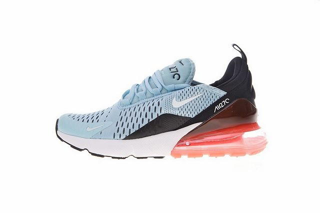 new product 83636 54270 Cheap NIKE Air Max 270 Ocean Bliss Blk Blue Hot Punch AH6789 400 Online Sale