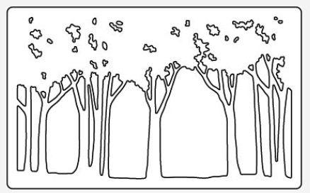 Dreamweaver - Cutting Die - Tree Line