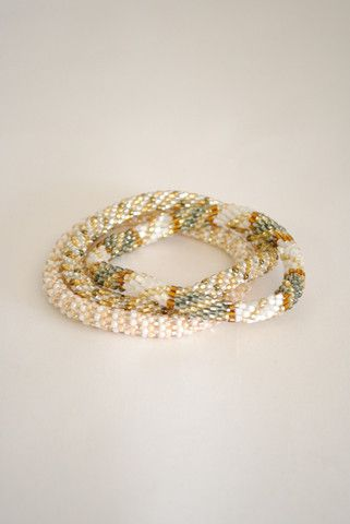 White and Brown Lily & Laura Bracelets