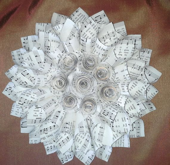 Hymnal Page Wreath, Book Page Wreath, Sheet Music Wreath ...