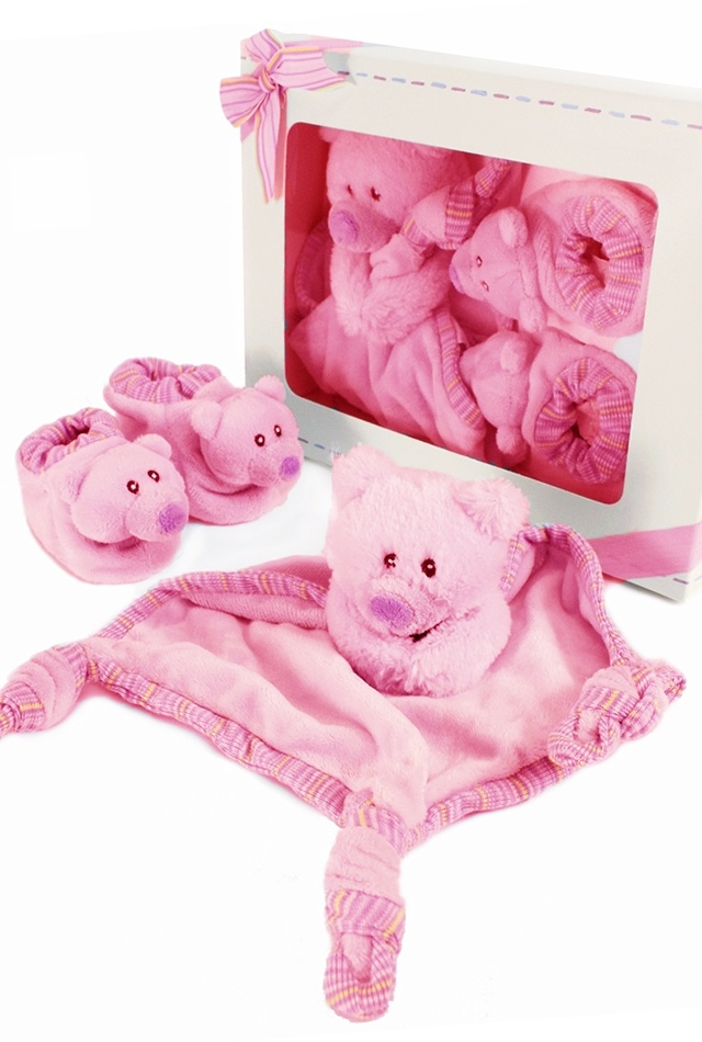 New baby gift set -  Pink Comfy Boots Set by Russ £19.99