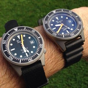 The very last Squale Super Matte and the new Squale Satinato #womw #watchnerd #watches