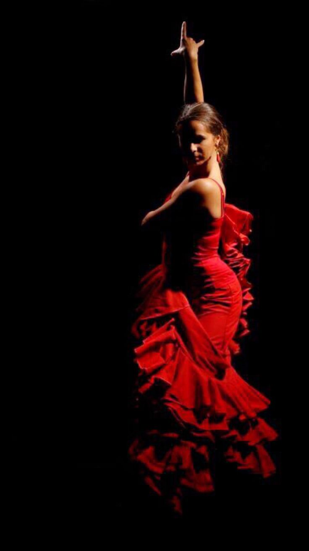 Flamenco Dancer Gypsy Dance Bata de Cola - Nina Teza #flamenco #gypsy