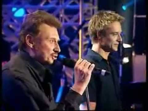 Johnny Hallyday & David Hallyday - Sang pour sang 1999 (lyrics)