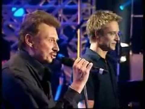 Johnny Hallyday & David Hallyday - Sang pour sang 1999 (lyrics)
