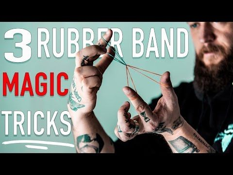 3 Easy Tricks With Rubber Bands Magi Easy Magic Tricks