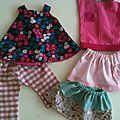 Couture pour débutante vêtements de poupée corolle: trousseau d'été
