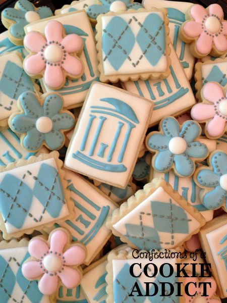 UNC Old Well & Argyle Cookies