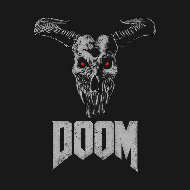 Icon of Sin - T-Shirt on Teepublic https://www.teepublic.com/designs/531890 | Doom 4, Doom 2016, demon skull, cyberdemon, baron of hell, hell knight, demonic, satan, satanic, id software, fps, first person shooter, oldschool, arena shooter, arcade shooter, skull shirt, goth, gothic, Halloween, metal, heavy metal, gamer, gaming, video game, video games