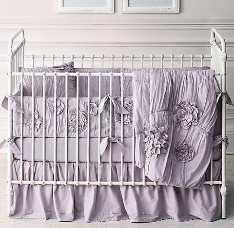 RH Baby & Child's Washed Appliquéd Fleur Nursery Bedding Collection
