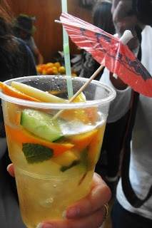 Pimm's cocktail from the City Bowl Night Market