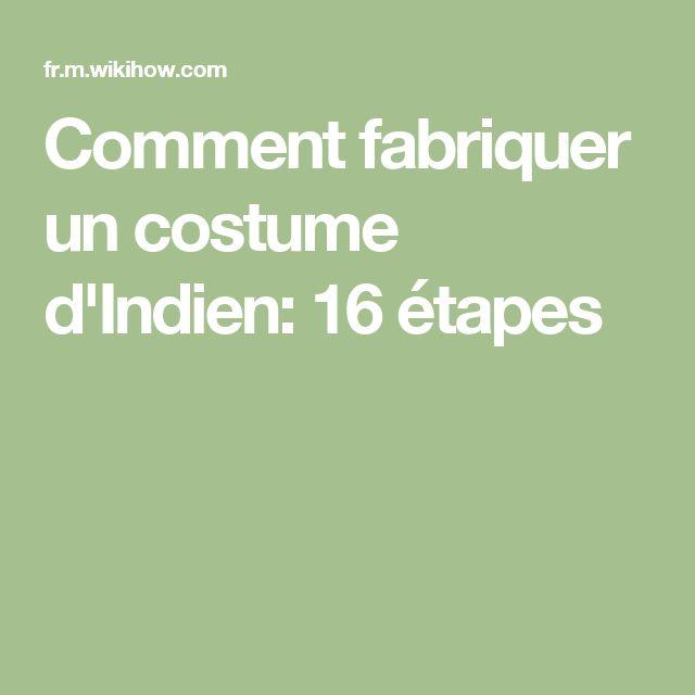 Les 25 meilleures id es de la cat gorie costumes indiens - Objet a fabriquer facilement ...