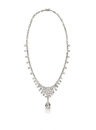 65% OFF CZ by Kenneth Jay Lane Classic Bib Necklace with Pear Drop