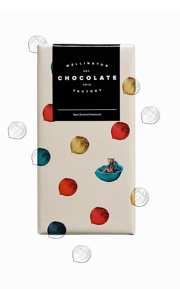 Three illustrations for three different chocolate flavours for the Wellington…