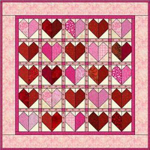 Heart Quilt Pattern - © Janet Wickell