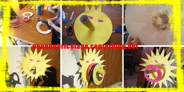 Jeu le soleil et ses anneaux bricolages enfants pinterest - Activite manuelle ete ...