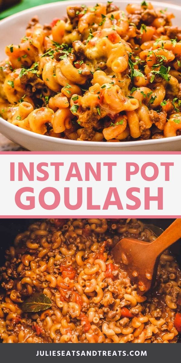 Love American Goulash Now You Can Make It In Your Instant Pot For A Quick And Easy Pressure Cooker Di In 2020 Instant Pot Dinner Recipes Goulash Cheesy Goulash Recipe