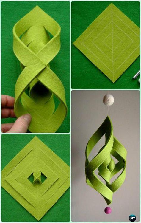 DIY Felt Ogee Ornament Instruction - DIY Christmas #Ornament Craft Ideas For Kids